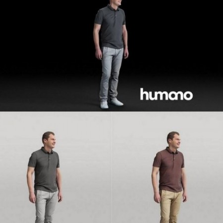 Humano Man standing and looking 0519 3D model
