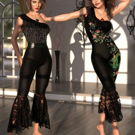 dForce Le Fashion Bodysuit for Genesis 8 Female(s)