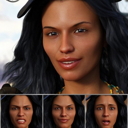 Adventuress - Expressions for Genesis 8 Female and Sahira 8