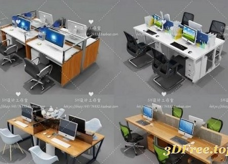 Office Desk & Chair Set 02