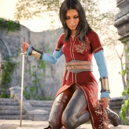 dForce Ruby Siege Outfit for Genesis 8 Female