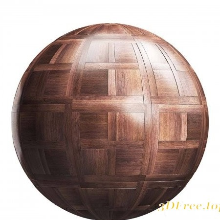 Dark chantilly wood parquet PBR Texture