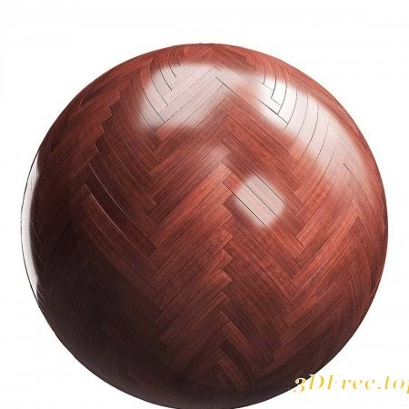 Red Herringbone Wood Parquet 02 PBR Texture