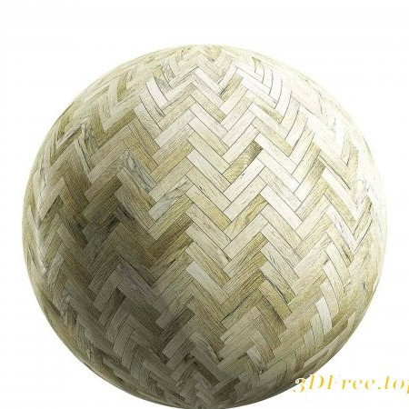 Light herringbone wood parquet PBR Texture