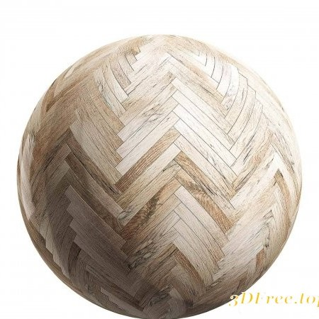 Light herringbone wood parquet 02 PBR Texture