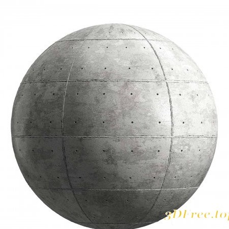 Light grey concrete panels PBR Texture
