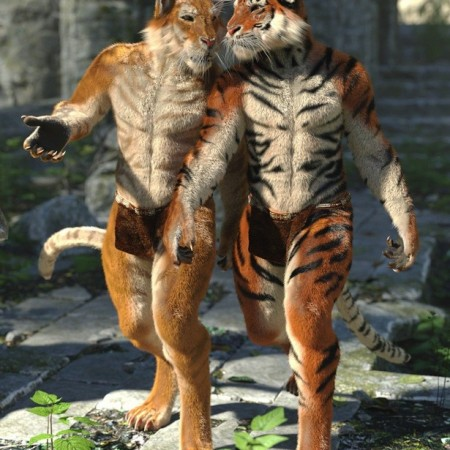 Rakshasa with dForce Hair for Genesis 8 Male