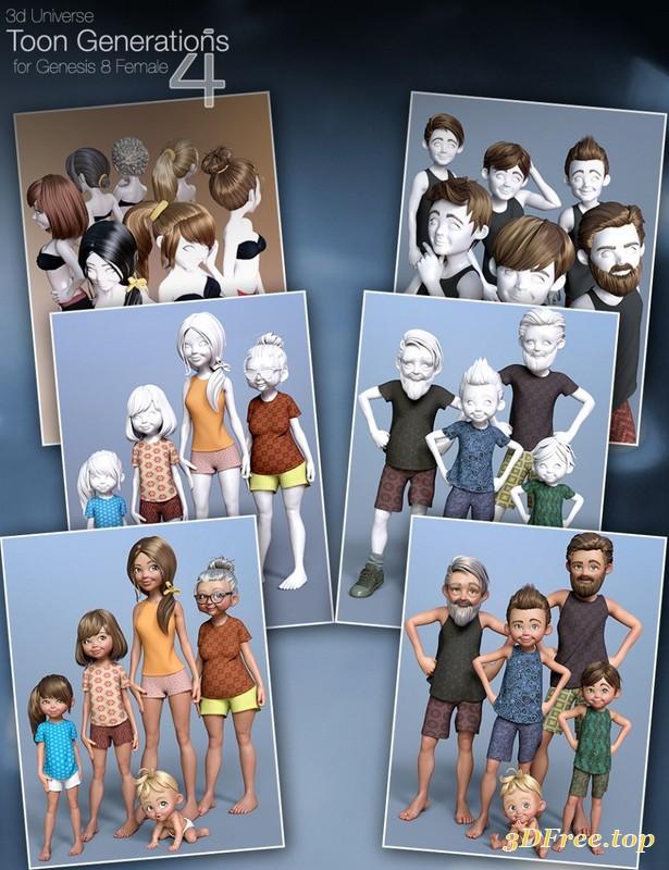Toon Generations 4 Mega Bundle For Genesis 8 3d Models Blog