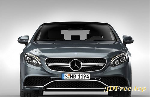 Mercedes Benz S63 AMG Coupe 2015 3D Model
