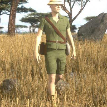 African Safari Outfit for Genesis 8 Male(s)
