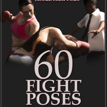 Boxing Gym Female Fight Poses [Update for G3F G8F]