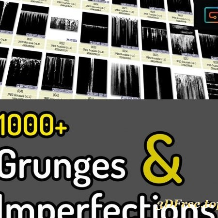 Gumroad - 100 Grunges & Imperfection Texture Pack by Texturing Tools & Collections