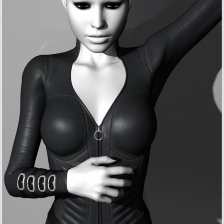 Leather Catsuit for V4 Bodysuit