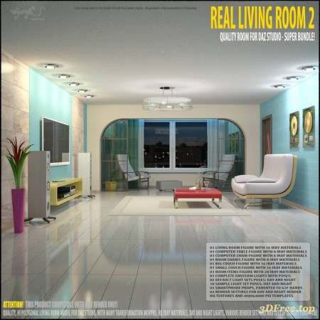 Living Room 2 for Daz Studio