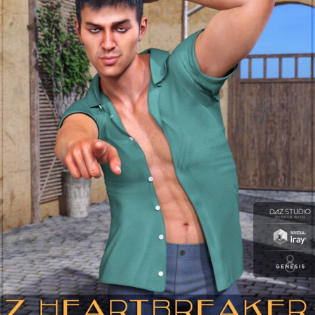 Z Heartbreaker Poses and Expressions for Genesis 8 Male and Diego 8