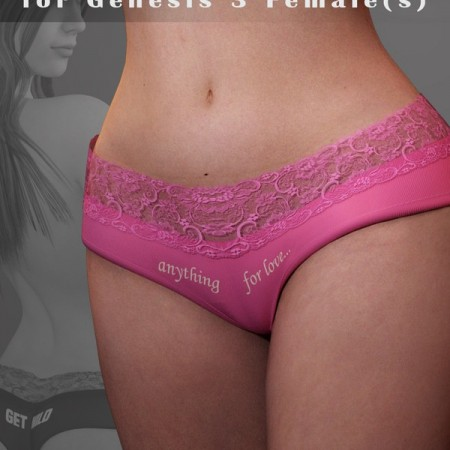 Bunny Panties for Genesis 3 Female