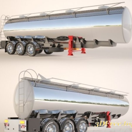 Gasoline Fuel Tanker Trailer - Semitrailer tank for fuel transportation