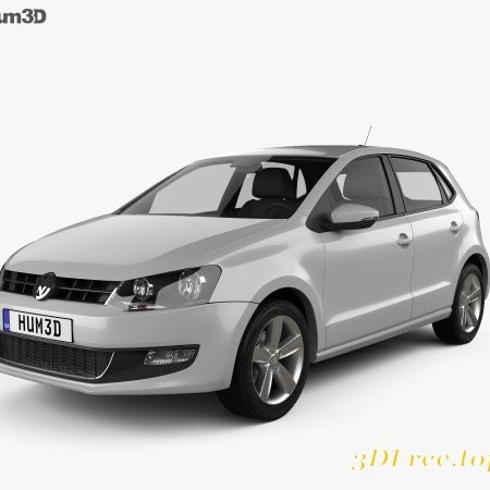 Volkswagen Polo 5-door 2010 3D model