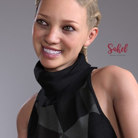 Sahel HD & Signature Smile HD Expression for Genesis 8 Female
