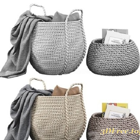 Baskets decor set