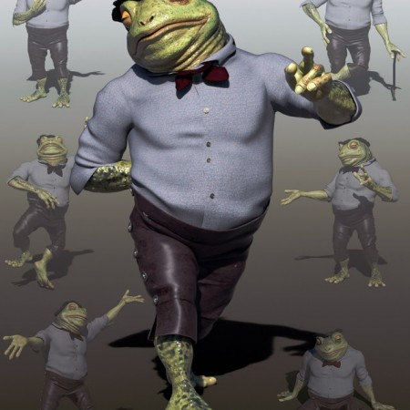 Dapper Toad Poses for Bullwarg HD