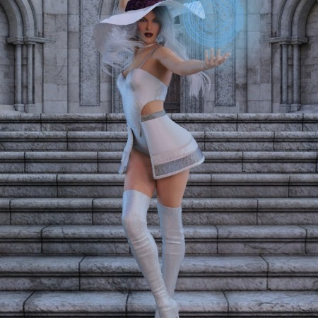 White Witch Poses for Genesis 8 Female