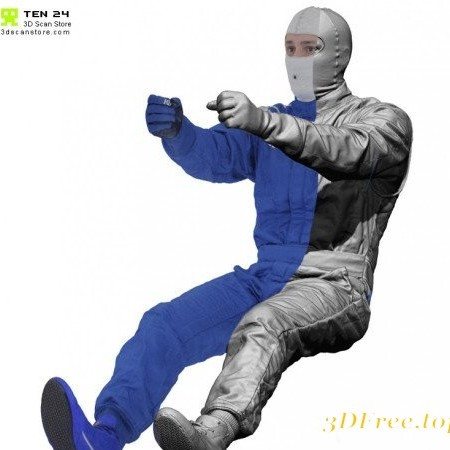 3D Scan Store - Racing Driver Seated Pose