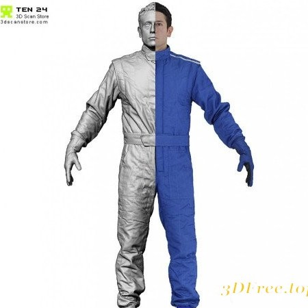 3D Scan Store - Male Racing Driver A Pose