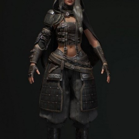 Got Assassin Girl 3D model