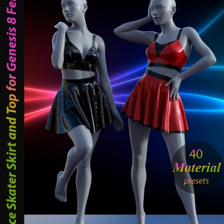 dForce Skater Skirt with Top for Genesis 8 Female