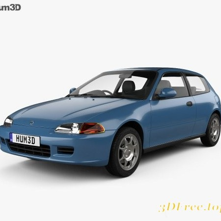 Honda Civic hatchback 1991 3D model