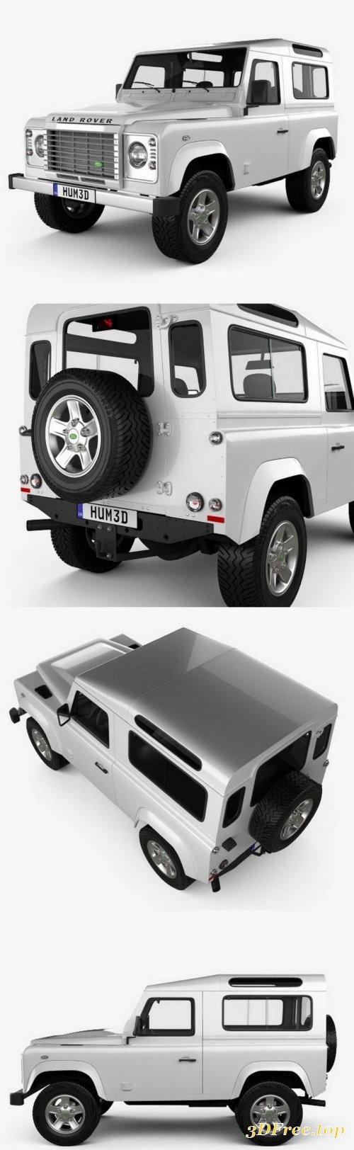 Land Rover Defender 90 Station Wagon 2011 3D Model