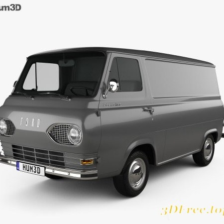 Ford E-Series Econoline Panel Van 1961 3D model