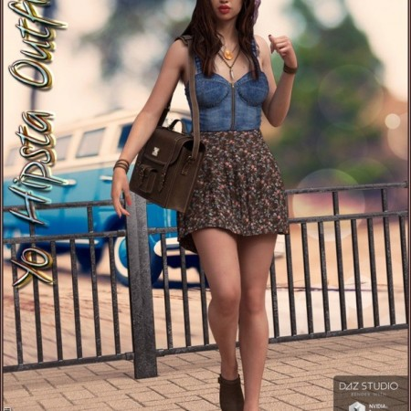 Yo Hipsta Outfit and Accessories for Genesis 3 Female(s)