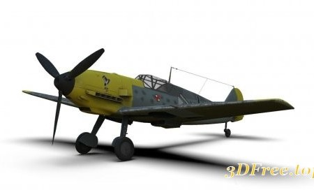 Messerschmitt Bf 109 German ww2 Fighter VR / AR / low-poly 3d model