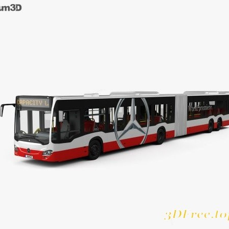 Mercedes-Benz CapaCity L 4-door Bus with HQ interior 2014 3D model