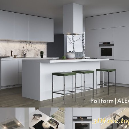Kitchen Poliform Varenna Alea (vray, corona)