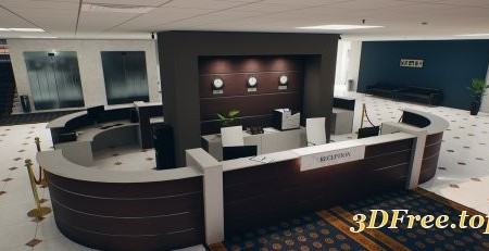 QA Office and Security Room UE4