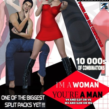 I'm A Woman You're A Man - Separates Collection - V4-V6-G2F-M4-M6-G2M