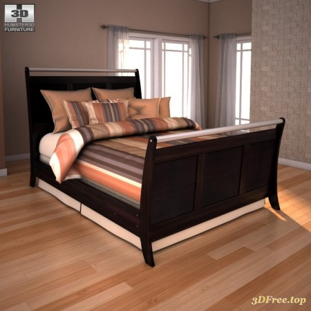 AS Pinella Sleigh Bed