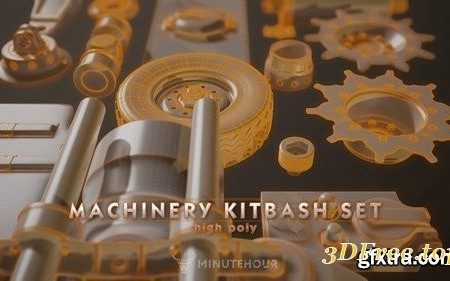 Machinery Set – kitbash – High Poly Pack