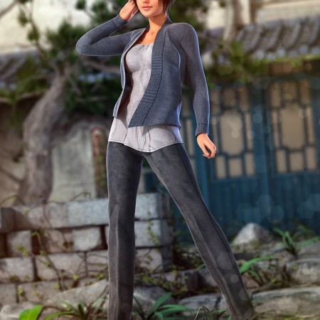 Smart and Sassy Outfit for Genesis 2 Female(s)