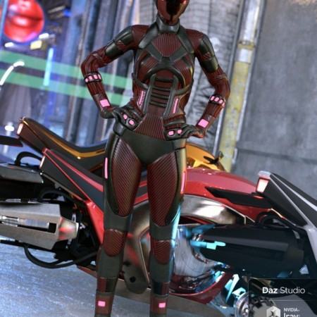 Scifi Angel Racer for Genesis 8 Female(s)
