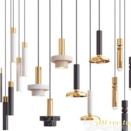 Four Hanging Lights_34 Exclusive 3D model