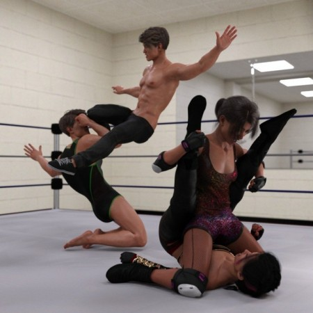 The Spectacle of Wrestling Poses for Genesis 8