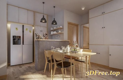 Interior Apartment Scene Sketchup by DieuLinh