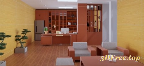 Interior Director Office Scene Sketchup