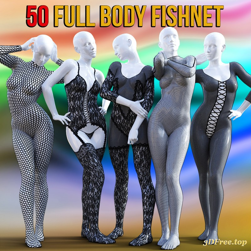 3D Models 50 Full Body Fishnet for G8F free download