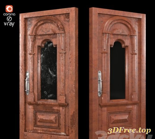 Aged and mocha wooden door