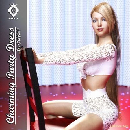 JMR Charming Party Dress for G3F and G8F